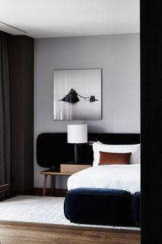 """Danish photographer Anders Schonnemann describes his style as """"Nordic, but without being too cold."""" And this relates not only to interior photography - ✌Pufikhomes - source of home inspiration Spare Bedroom Office, Small Room Bedroom, Home Bedroom, Bedroom Decor, Bedrooms, Home Interior, Modern Interior Design, Interior Decorating, Living Room Modern"""