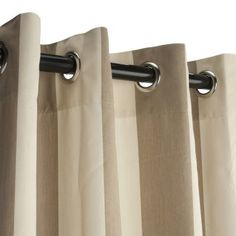 "Amazon.com - Sunbrella Outdoor Curtain with Grommets - Regency Sand - 50X96"" - Window Treatment Panels"