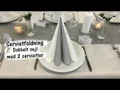Paperdeluxe.dk Servietfoldninger - YouTube