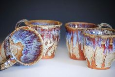 Rustic Coffee Mugs.  I love these so much!  They remind me of my grandma's house!  Want!