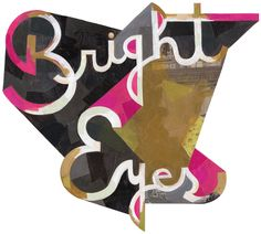 Poster for Bright Eyes concert at SXSW, designed by Darren Booth
