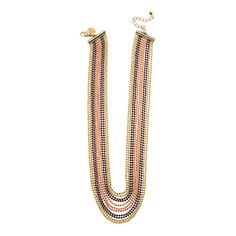 """Unchained-Gold Grace Adele 16    Gild your party look in metallic shimmer with this versatile necklace with an edge. Unchained Collection     • Gold or silver tone  • 16"""" length  • Lobster clasp    https://myfashions.graceadele.us/GraceAdele/Buy/ProductDetails/10391"""