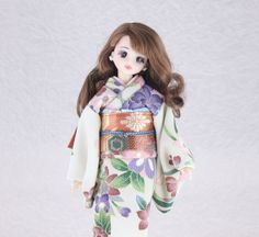 Kimono doll.Japanese kimono. ジェニーの華やかな着物