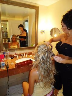 Hair, Up, Down, Half, Curled Prom hair Formal Hairstyles, Curled Hairstyles, Pretty Hairstyles, Wedding Hairstyles, Girl Hairstyles, Wedding Hair And Makeup, Bridal Hair, Hair Makeup, Hair Today