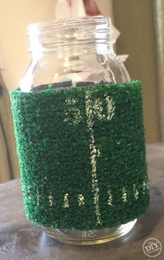 Easy to make football koozies for the big game!