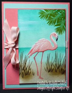 I'm feeling good! I got a little stampin' therapy in this morning with this new Fabulous Flamingo Stamp Set from Stampin' Up! You can get the details for this project here on my blog: http://zindorf.blogs.splitcoaststampers.com/2017/06/09/fabulous-flamingo-stampin-up-card/