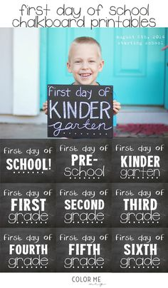 freebie friday | first day of school chalkboard printable signs