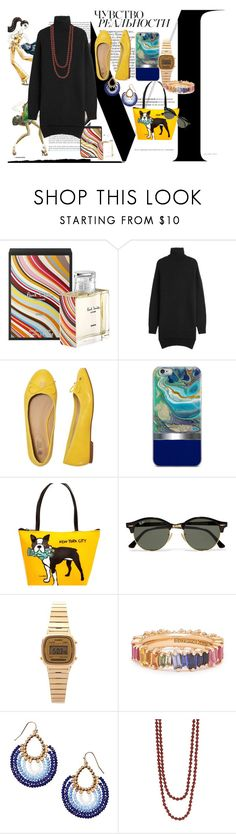 """Sin título #157"" by krissel1 on Polyvore featuring moda, Prada, Paul Smith, Isabel Marant, Marc Tetro, Ray-Ban, Casio y Avon"