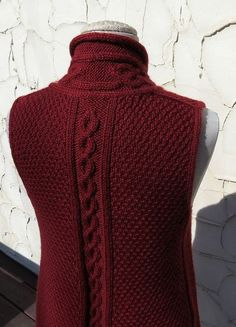 Knitting Stitches, Baby Knitting, Big Knit Blanket, Big Knits, Vest Pattern, Knit Vest, Knitted Bags, Knit Crochet, Knitting Patterns