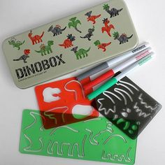 Dinosaur Stencil Drawing Kit- Dinobox by Worldwide Co., http://www.amazon.com/gp/product/B0040JRWOE?ie=UTF8=213733=393177=B0040JRWOE=shr=abacusonlines-20 via @amazon