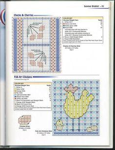 Folk Art Chickens Tissue Box Cover 2/2