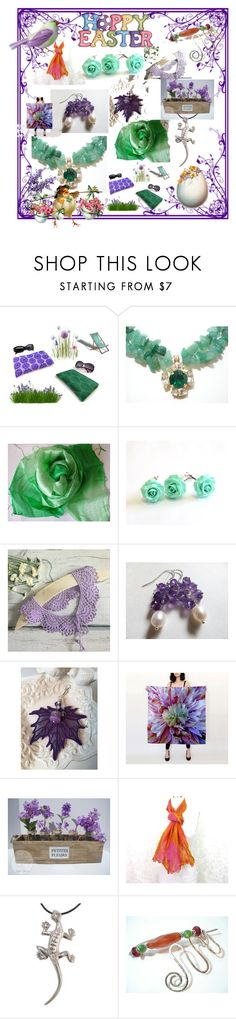 """""""Happy Easter"""" by anna-recycle ❤ liked on Polyvore featuring modern, rustic and vintage"""