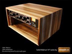 Walnut audio rack More