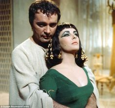 "Richard Burton and Elizabeth Taylor on the set of 'Cleopatra' in1963. Of his marriage to her, in one of his many diaries were these words: ""She is a brilliant actress, she is beautiful beyond the dreams of pornography. She can be arrogant and willful. She is clement and loving. She is Sunday's child, she can tolerate my impossibilities and my drunkeness. She is an ache in the stomach when I'm away from her, and she loves me"" ..."