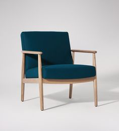 Swoon Editions Armchair, mid-century style in Marine - £379
