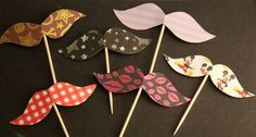 12 Mustache Cupcake Toppers Customized by welldressedcupcakes, $5.25  Just relisted!