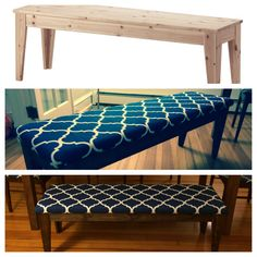 Yep. This is awesome. I want to do this! Ikea Nornas bench ($89) transformation. ($40)