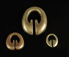 Group of Three Ling-Ling-O.  Ifugao, Northern Luzon, Philippines  Brass and Copper -   19th century.
