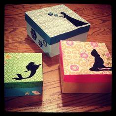 gift boxes, box idea, disney crafts, mach box, disney princesses, disney princess crafts, paper, modge podge box, disney box