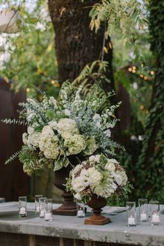 Green and White Wedding Decorations, Flowers
