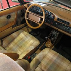Porsche tartan seats lookin for blue plaid seat fabric - Burberry fabric for car interior ...