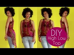 How To Make a High Low Top   Sewing For Beginners - YouTube