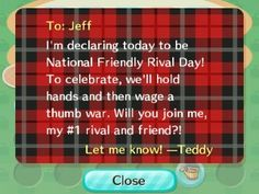 Teddy challenged me to a thumb war!