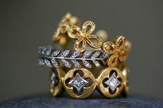 cathy waterman nature inspired diamond rings