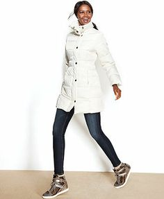 Kenneth Cole Reaction Funnel-Neck Quilted Puffer Coat