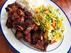 Island-Style Lunch: Marinated Short Ribs + Mango Slaw (http://blog.hgtv.com/design/2014/07/17/island-style-lunch-marinated-short-ribs-mango-slaw/?soc=pinterest)