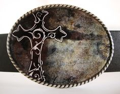 Belt Buckle  MW3 Black Cross 2 by MnMTreasures, $20.00