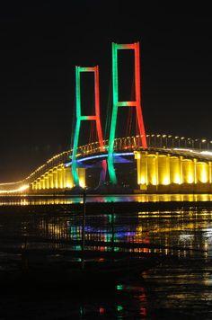 Suramadu Bridge, East Java, Indonesia    www.liberatingdivineconsciousness.com