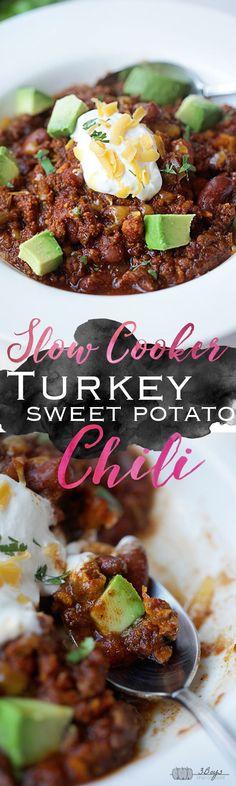 Slow Cooker Turkey Sweet Potato Chili