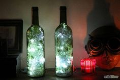 DIY Lighting Crafts With Wine Bottles
