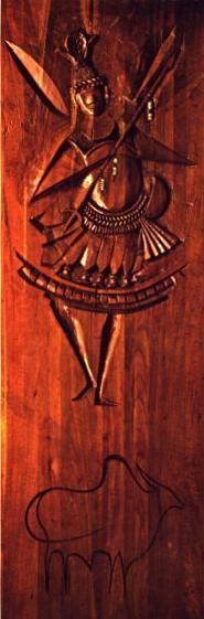 Iroko - sculpture of Carybé in wood, exibit in the Museum Afro-Brazilian, Salvador, Bahia, Brasil
