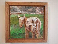 Jason Sauer Fine Art Painting of Donkey Using Demolition Derby Car Metal | eBay #mostwantedfineart, #pghartcar,  #pittsburgh, www.mostwantedfineart.com
