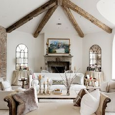 How to create a country cottage look in your home! (image via Thompson Custom Homes)