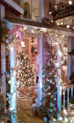 Victorian Christmas Porch