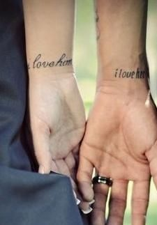 I love her & I love him tattoos  I cannot wait to get these! I love it!!!!!