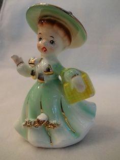 Vintage Sonsco Japan Ceramic Girl Figure 1960's by lindalou, $6.00