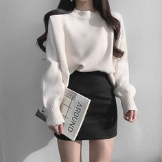 Korean Girl Fashion, Korean Fashion Trends, Ulzzang Fashion, Asian Fashion, Boho Fashion, Fashion Tips, Ulzzang Style, Chubby Fashion, Korean Street Fashion