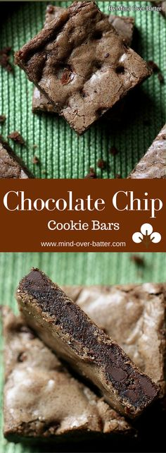 Chocolate Chip Cookie Bars -- www.mind-over-batter.com