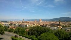 """Firenze skyline from the hilltop lookout point """"Piazzale Michelangelo"""""""
