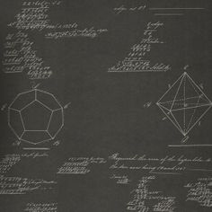 Andrew Martin  #Pythagoras #Wallpaper #interiordesign #chalkboard #math .  I wouldn't have it in my home, apart from maybe a feature in a kid's playroom, but I think this is fabulous!