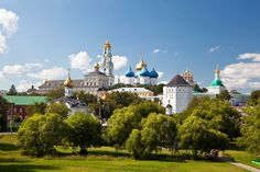 The Trinity Lavra of St. Sergius is the most important Russian monastery and the spiritual centre of the Russian Orthodox Church. The monastery is situated in the town of Sergiyev Posad, about 70 km to the north-east from Moscow by the road leading to Yaroslavl, and currently is home to over 300 monks.