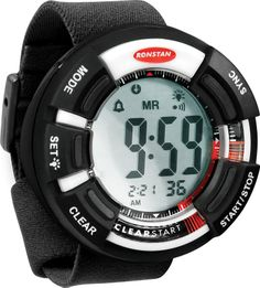 """The Amazing Quality """"Clear Start Race Timer - - Black/WhiteInnovative Race Functions with Bold StylingThe most popular sailing watch in the world just got better. Ronstan's Clear Start race timer is completely updated with bold styling and true s Sailing Watch, Sailing Gear, Timer Watch, Style Audacieux, Big Face, Large Buttons, Boat Parts, Bold Fashion, Courses"""