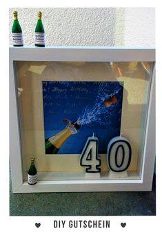 #Gutschein #Geldgeschenk #40.Geburtstag #Überraschung selber gemacht #Basteln #Geschenk #DIYGutschein #DIY