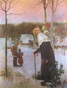 Heinrich Vogeler Wintermärchen (Die Heiligen Drei Könige), 1897