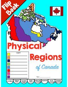 Physical Regions of Canada Flip Book Social Studies Curriculum, Teaching Social Studies, School Resources, Teacher Resources, Geography Of Canada, Physique, Physical Geography, Teaching Materials, Teaching Ideas