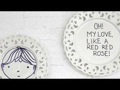 Διακόσμηση τοίχου με πιάτα - YouTube Red Roses, Decorative Plates, Channel, My Love, Youtube, Diy, Home Decor, Decoration Home, Bricolage